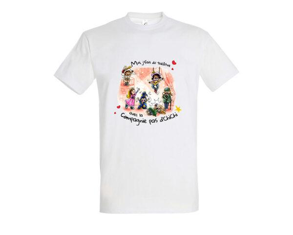 T-shirt blanc enfant - Compagnie pas d'Chichi